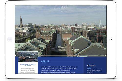 Bildschirmfoto atmo.tv - Aerial Footage & Location Sound