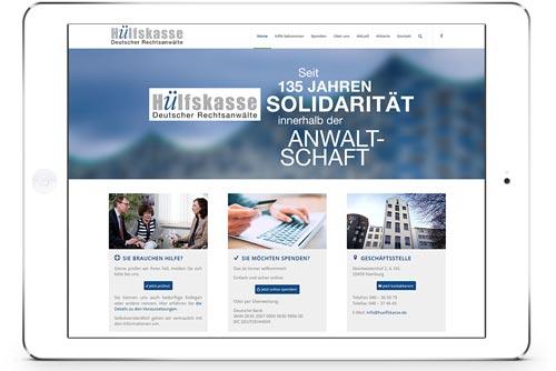 Bildschirmfoto Hülfskasse Deutscher Rechtsanwälte