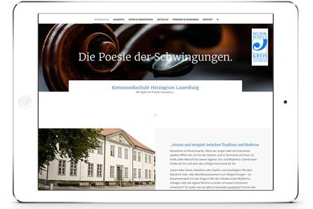 Foto Webseite Kreismusikschule Herzogtum Lauenburg